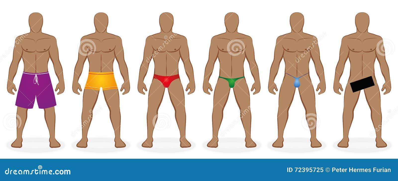 沐浴着装条例人的游泳衣赤裸