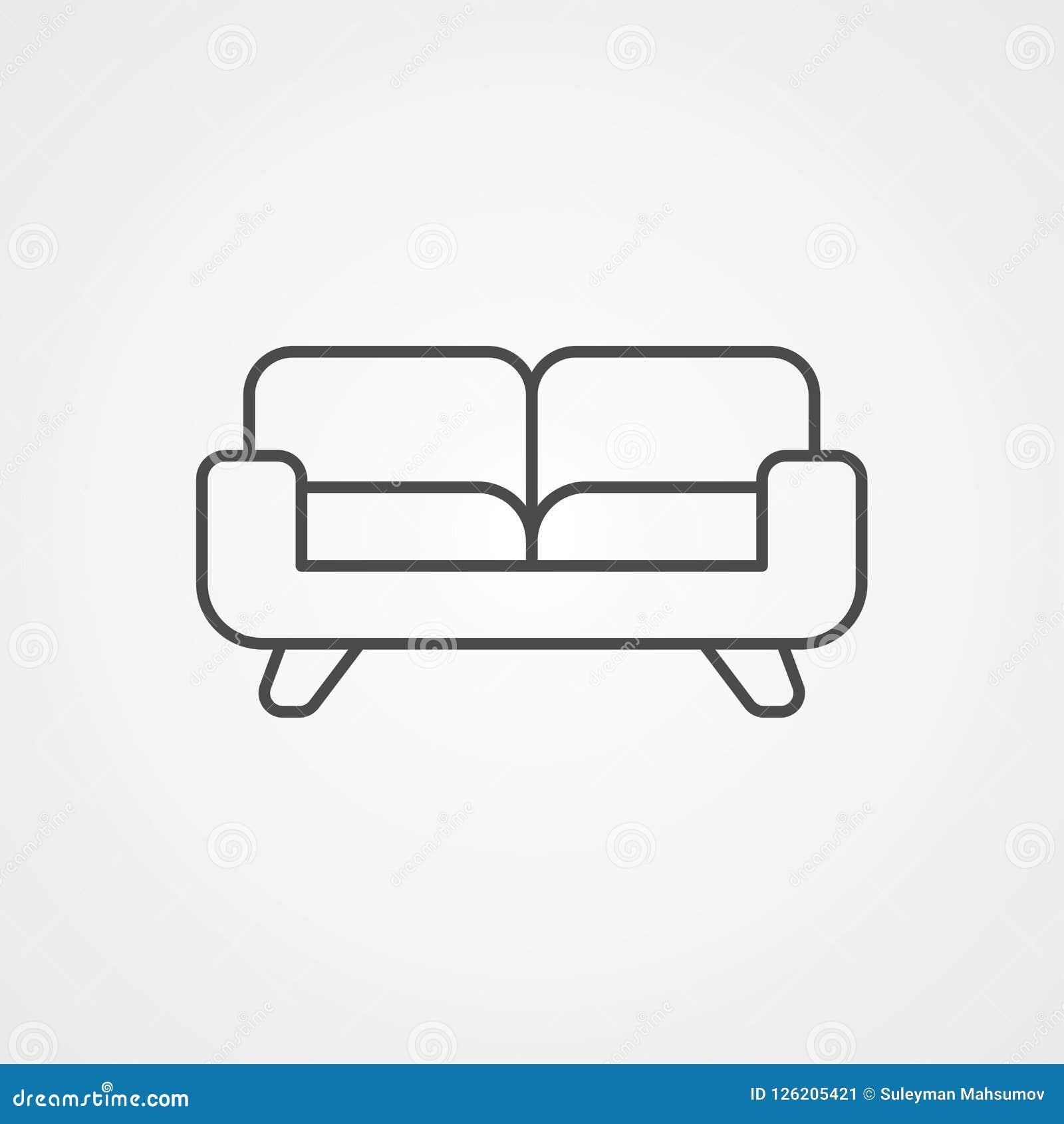 沙发传染媒介象标志标志