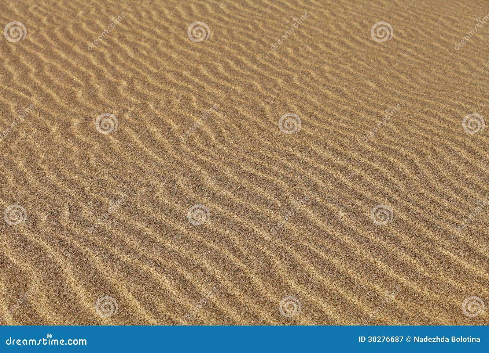 起波纹的沙子