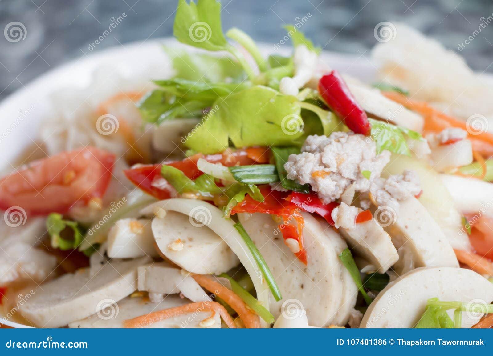 沙拉海鲜辣泰国