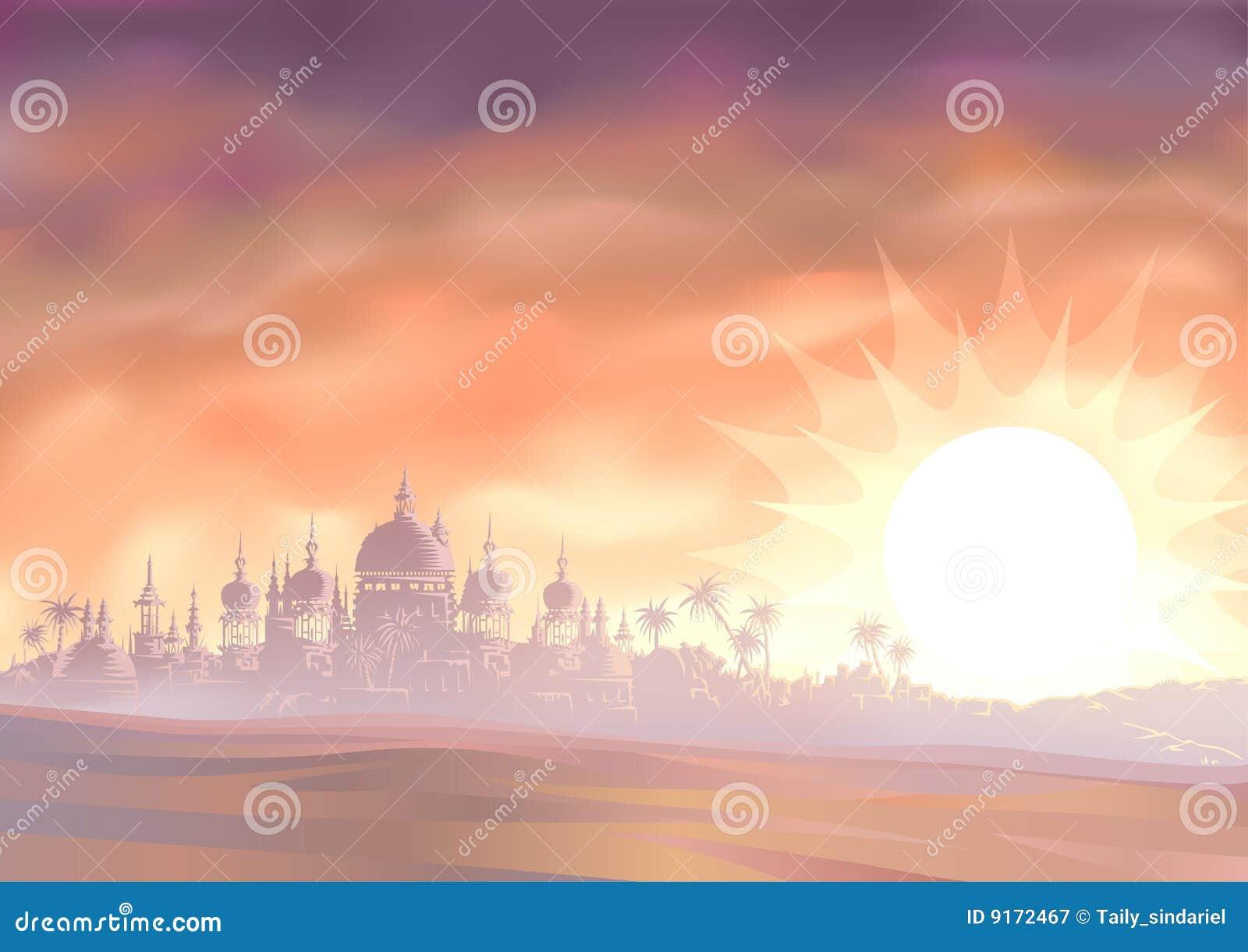 沙漠海市蜃楼