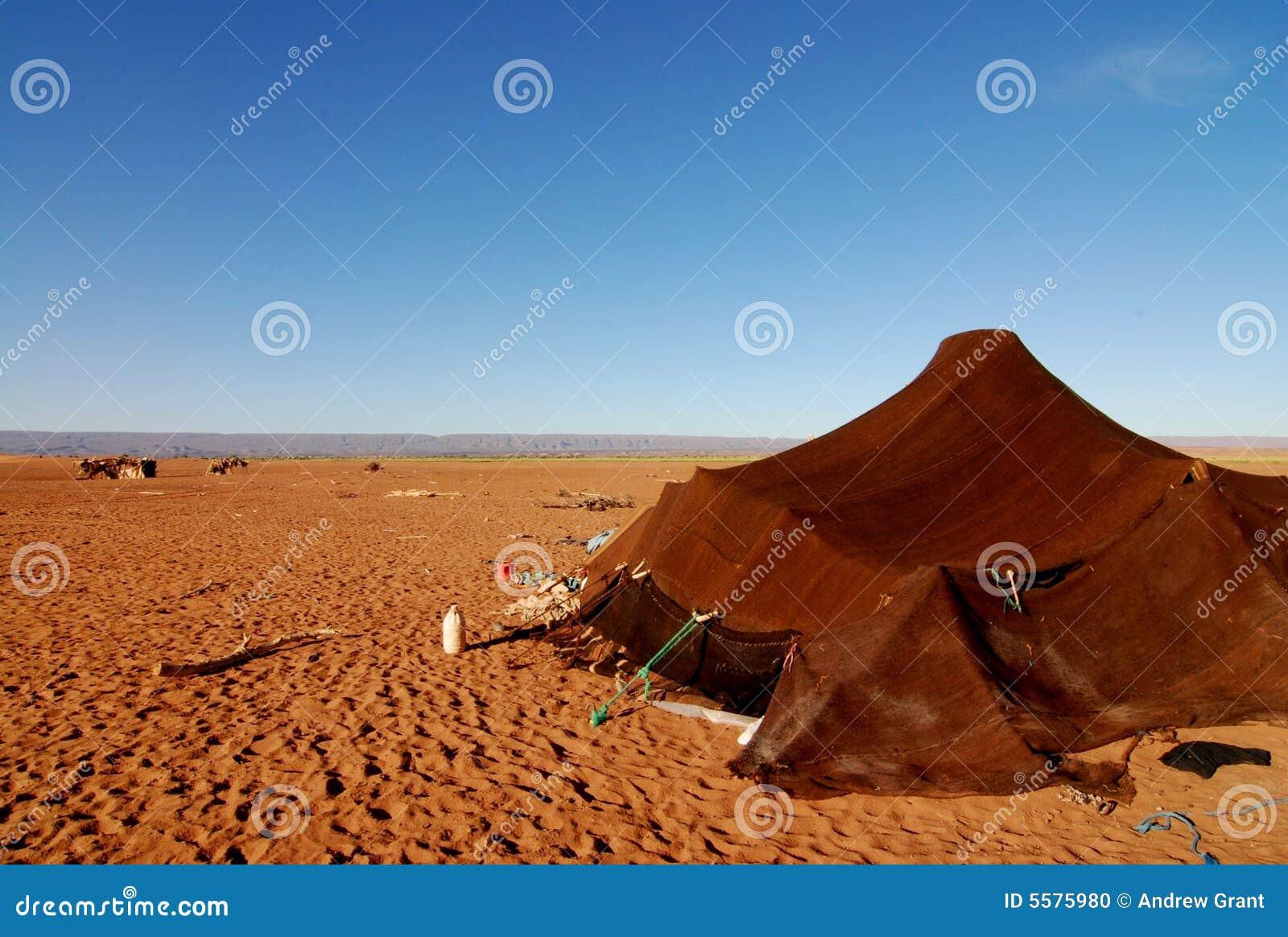 沙漠游牧人撒哈拉大沙漠帐篷