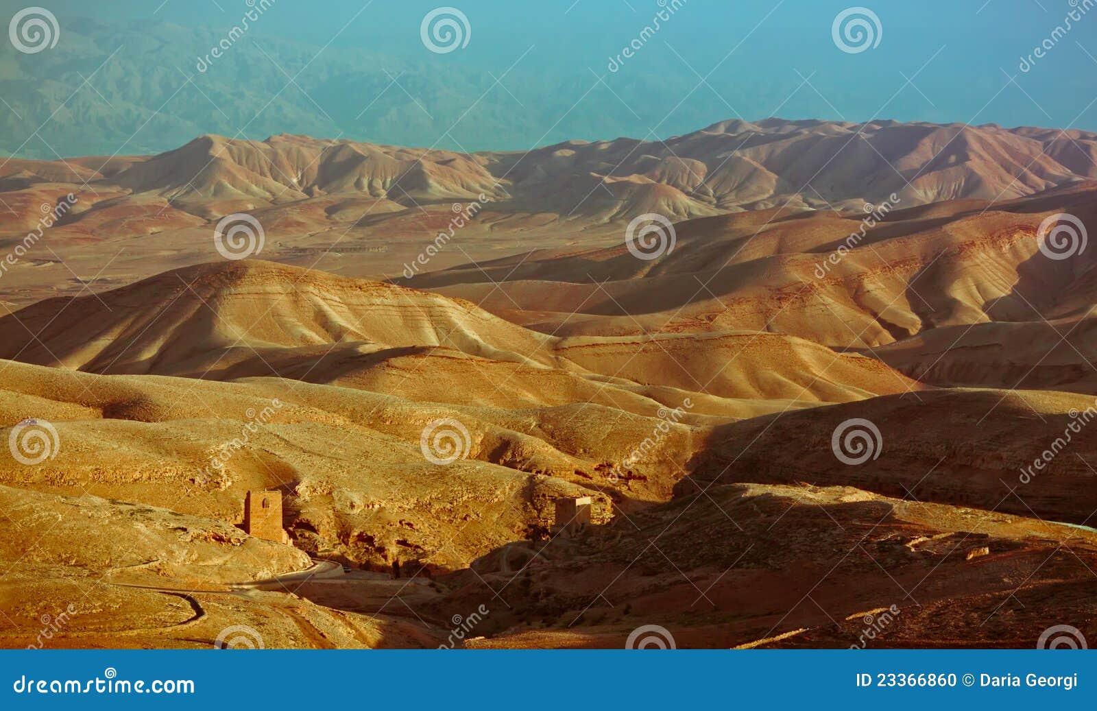 沙漠judea monastry视图