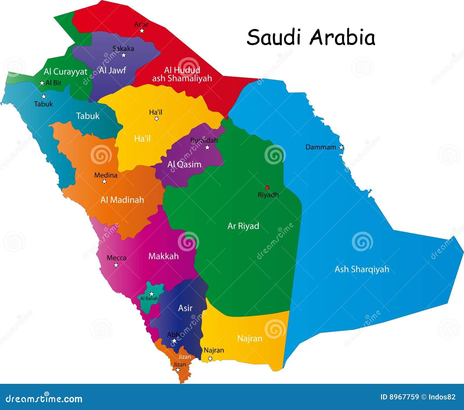 沙特阿拉伯映射