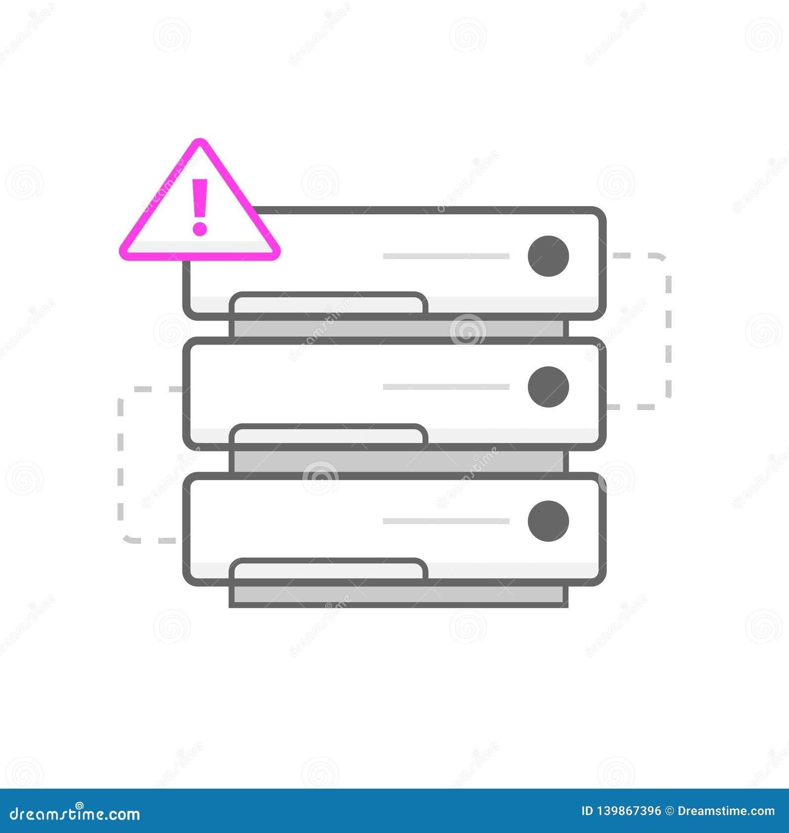 没有服务器象/商标 艺术例证