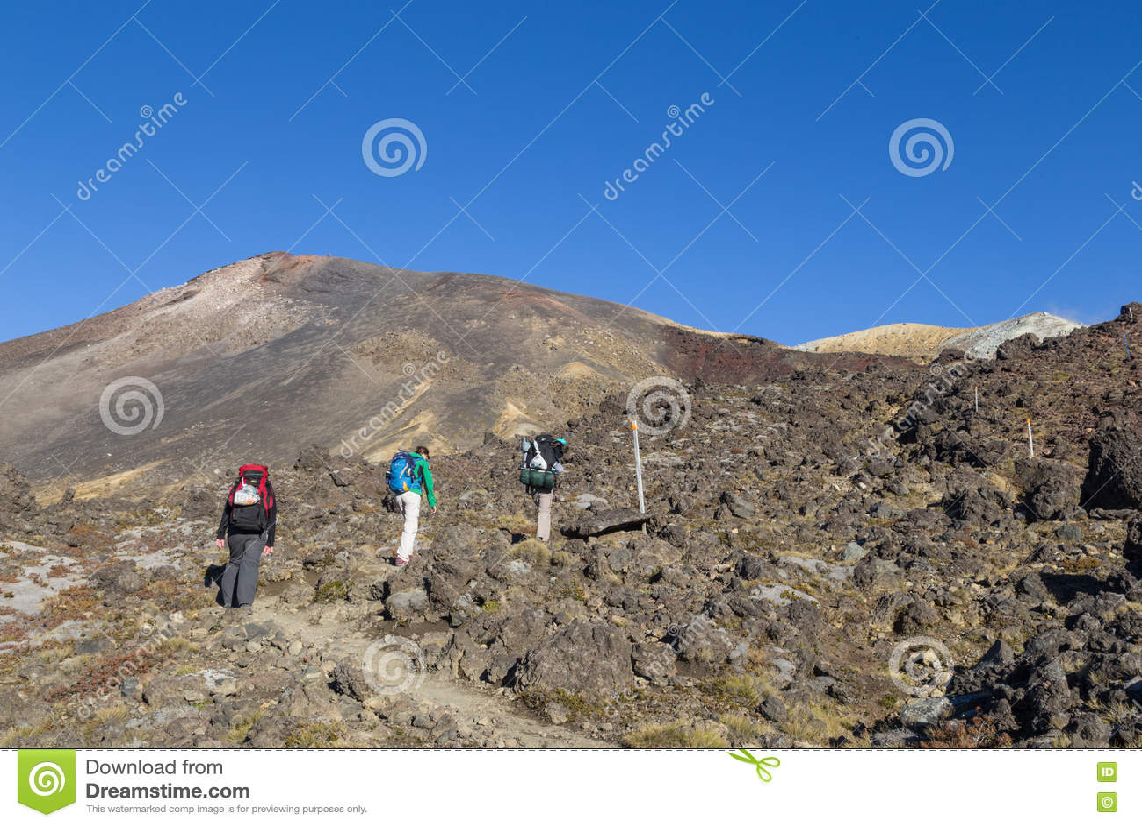 没有的远足者Tongariro横穿,新西兰