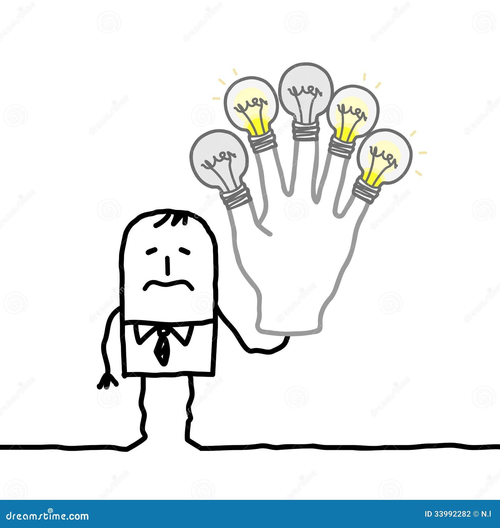没有更多想法或能量的人