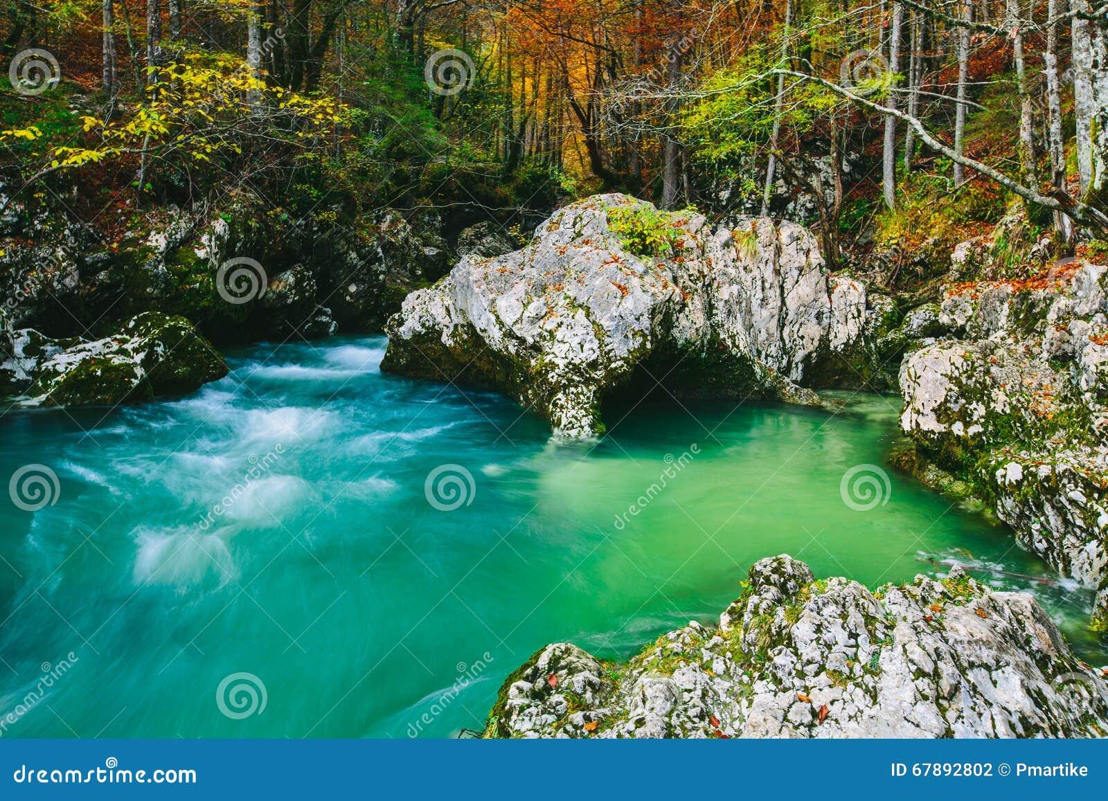 河Mostnica (Mostnice Korita)的惊人的看法