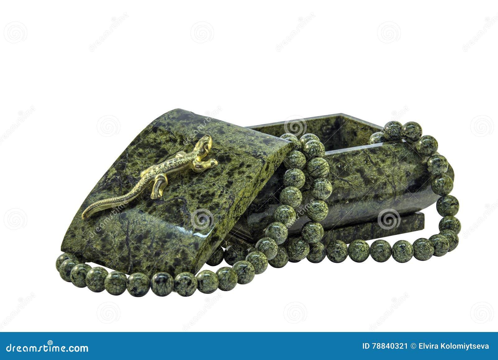 绿沸铜小箱和绿沸铜小珠