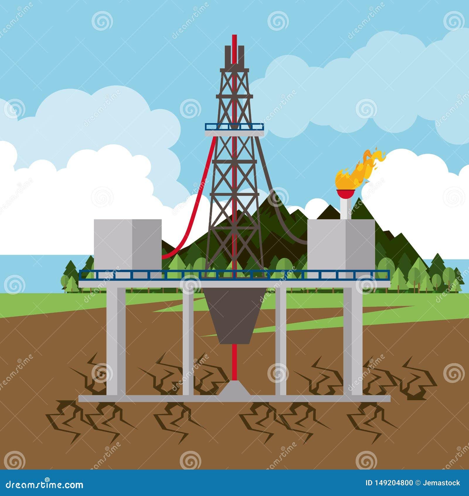 油和石油泵浦圆的象
