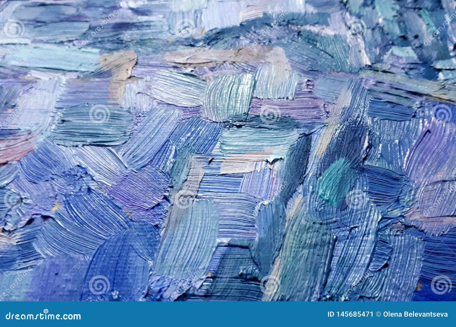油漆油漆冲程和纹理在帆布,多彩多姿的冲程背景的