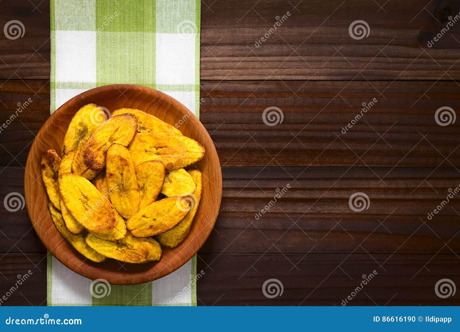 油煎的成熟大蕉切片