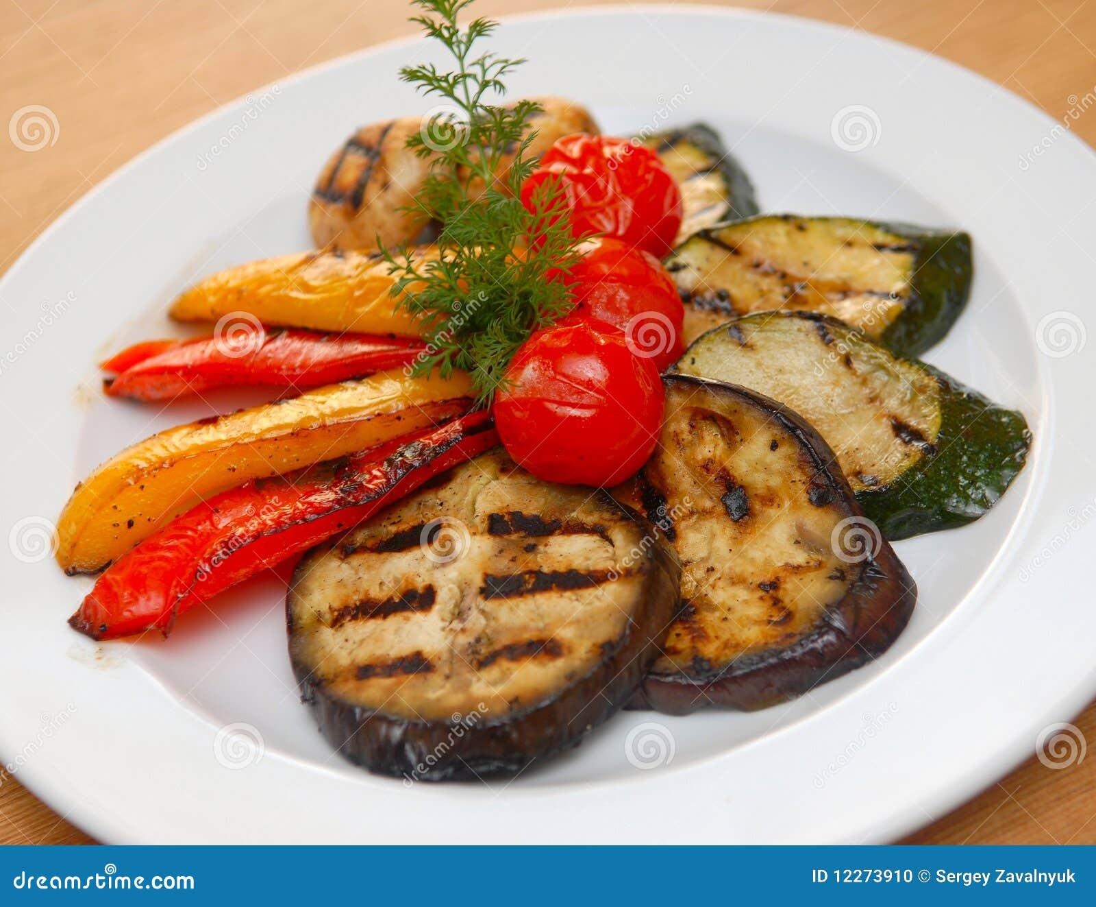 油煎的蔬菜