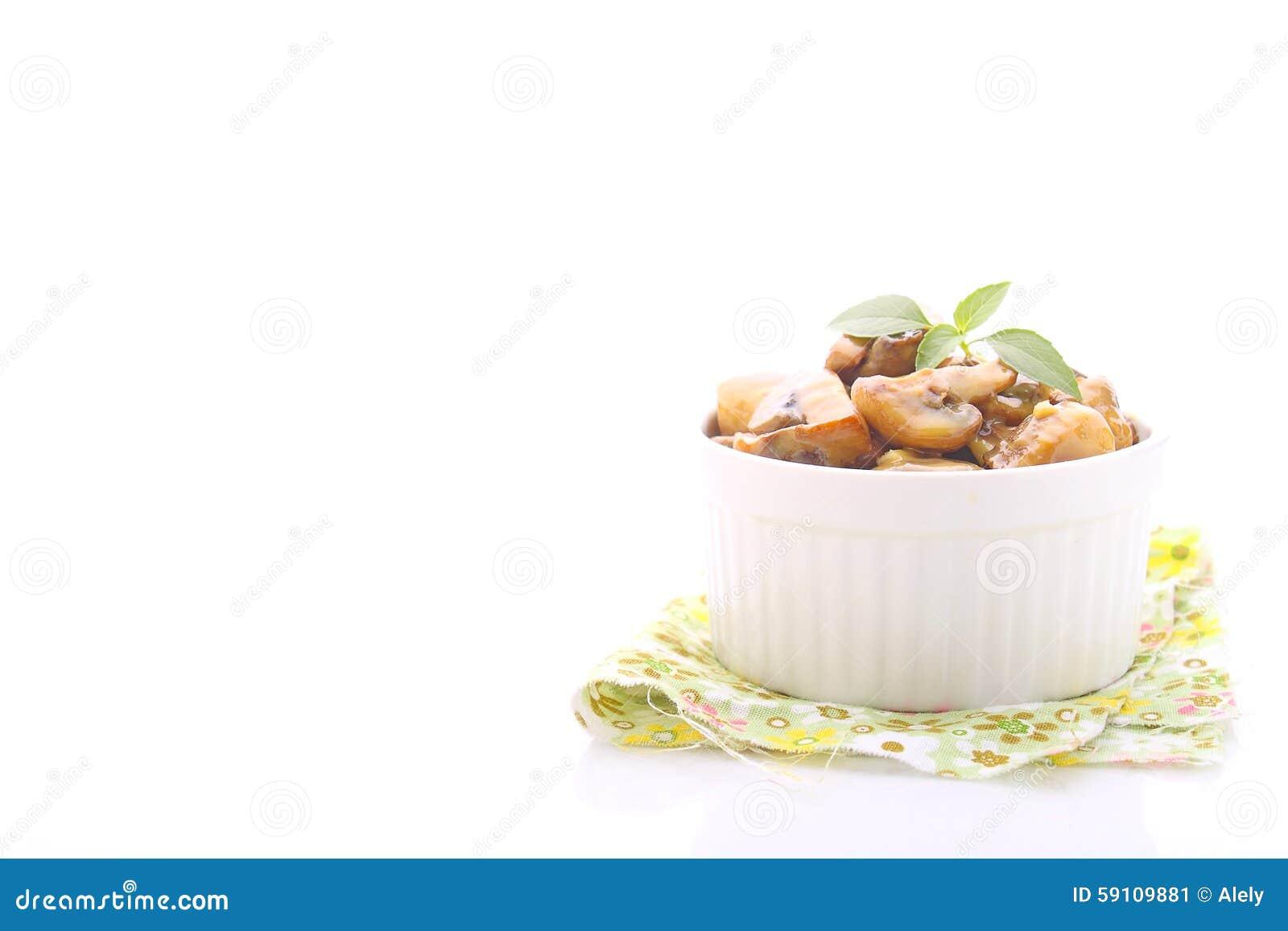 油煎的蘑菇