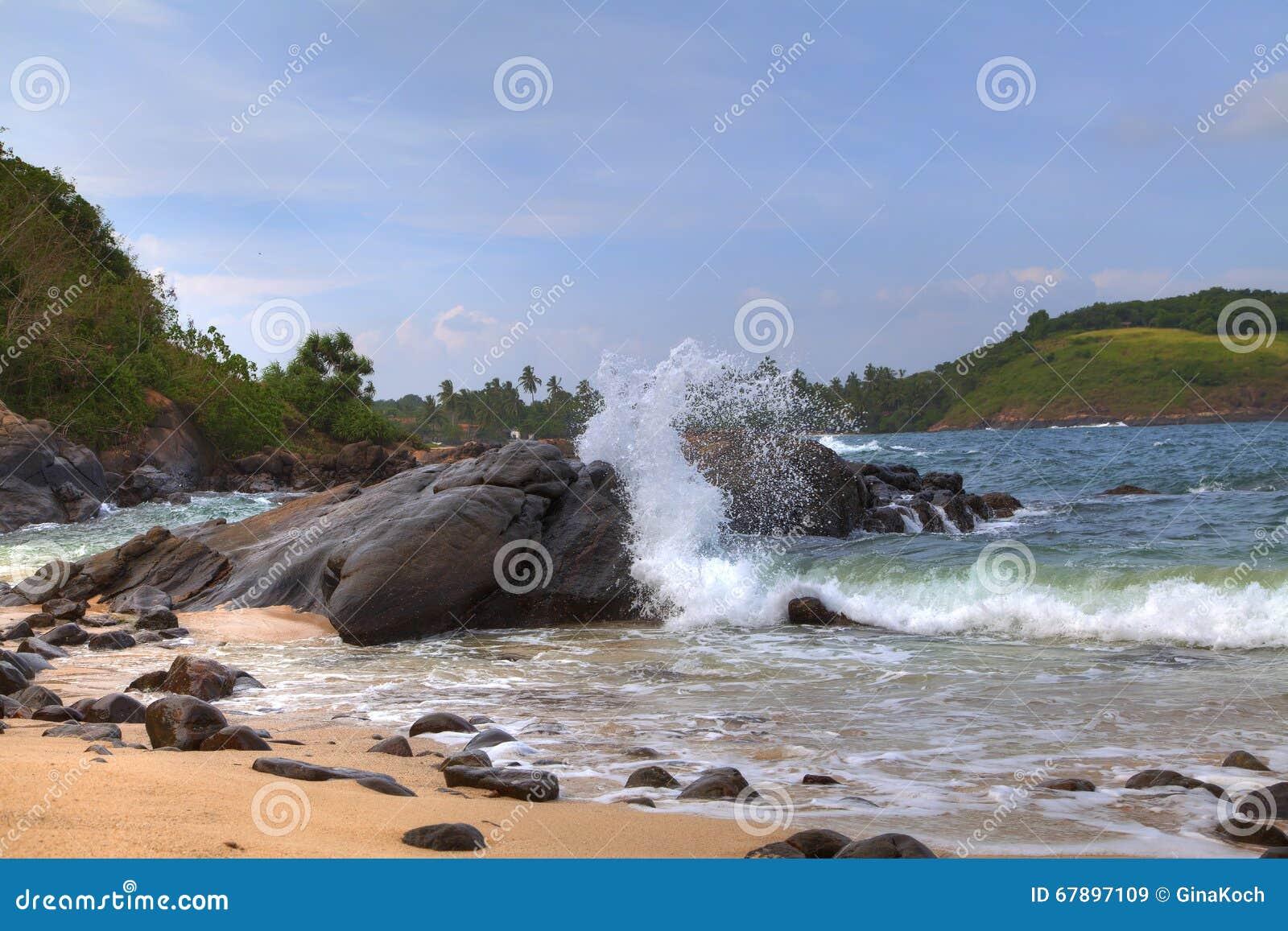 沿海风景在印度洋