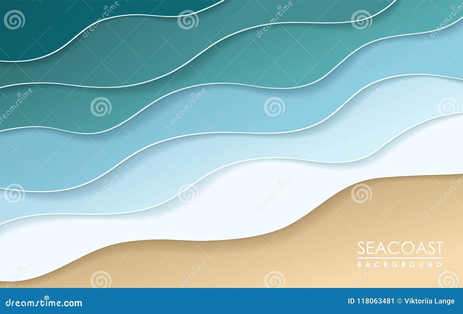 沿海origami背景 纸艺术