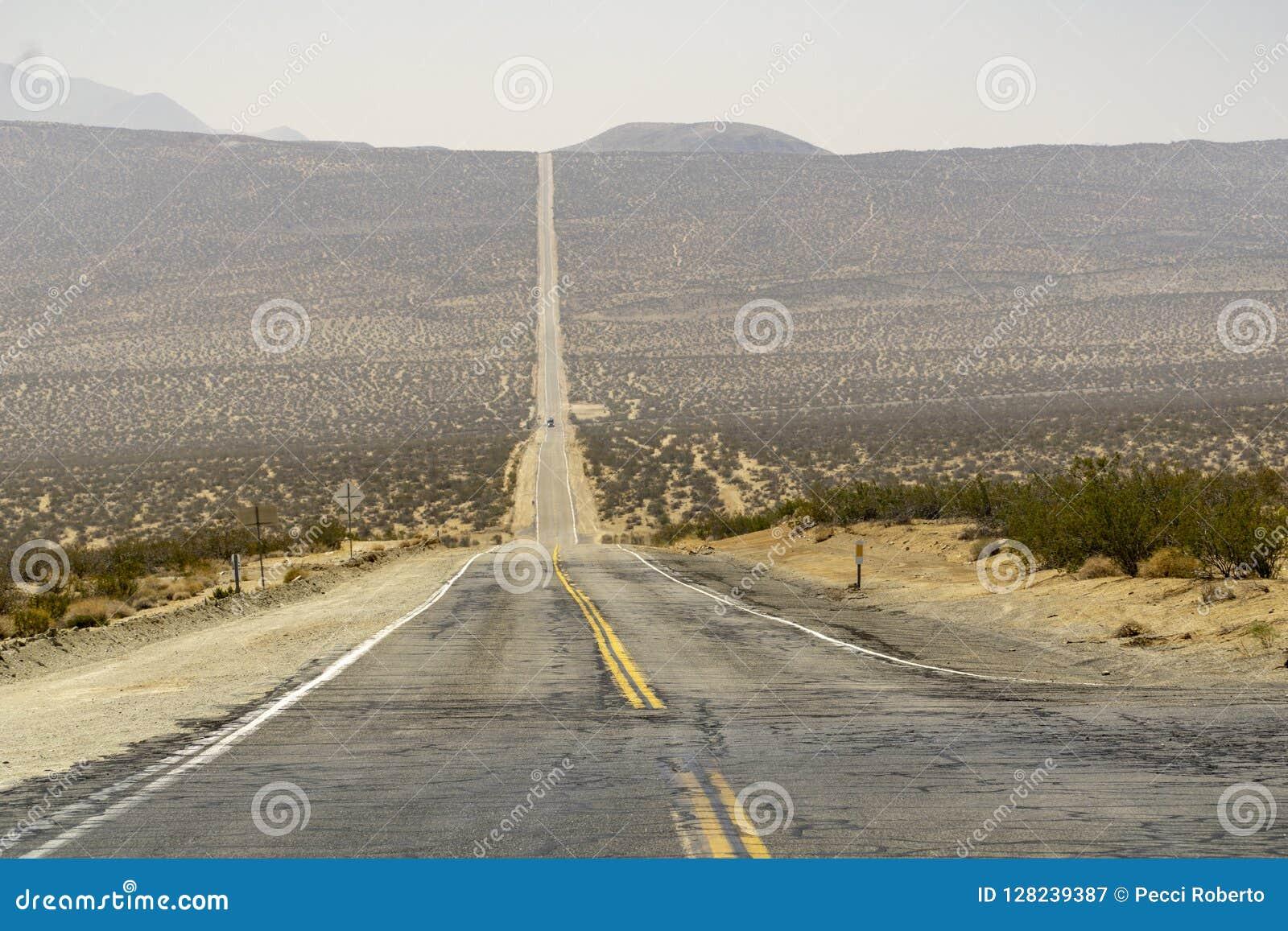 沿路的加利福尼亚通过死亡谷