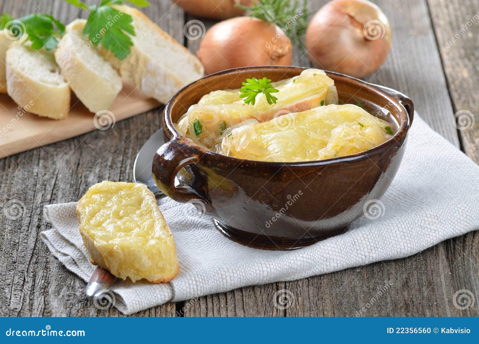 法国新鲜的葱汤