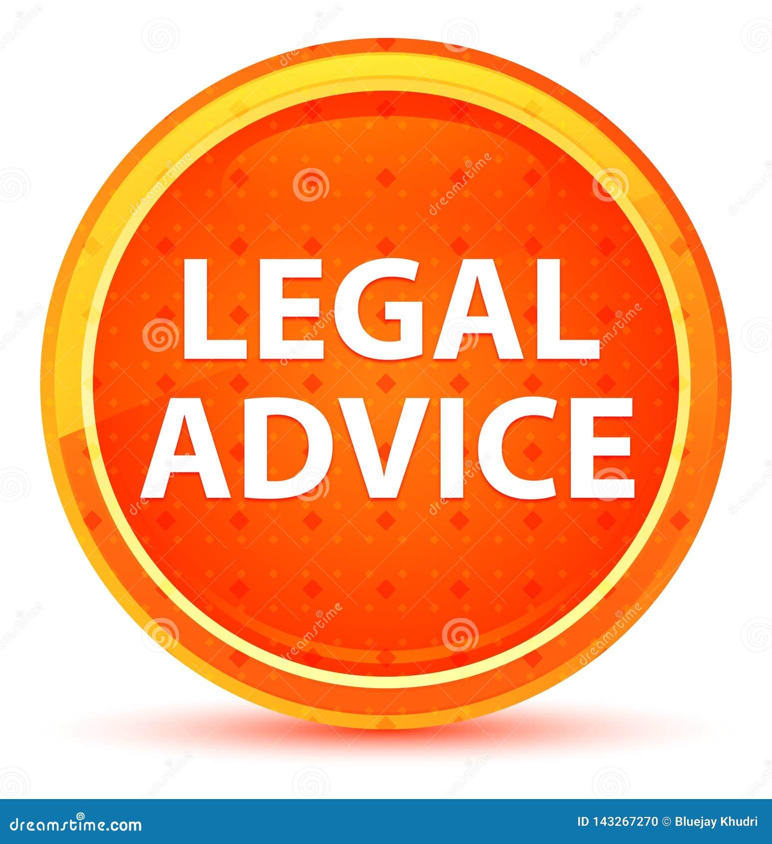 法律建议自然橙色圆的按钮