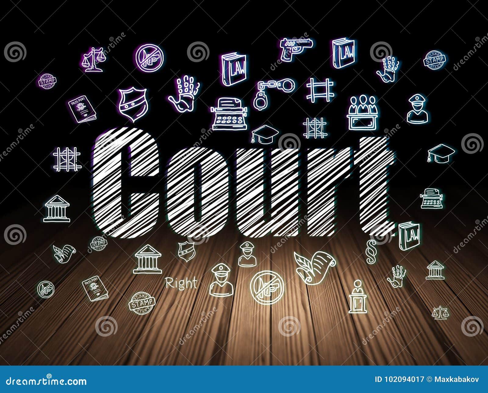 法律概念:法院在难看的东西暗室