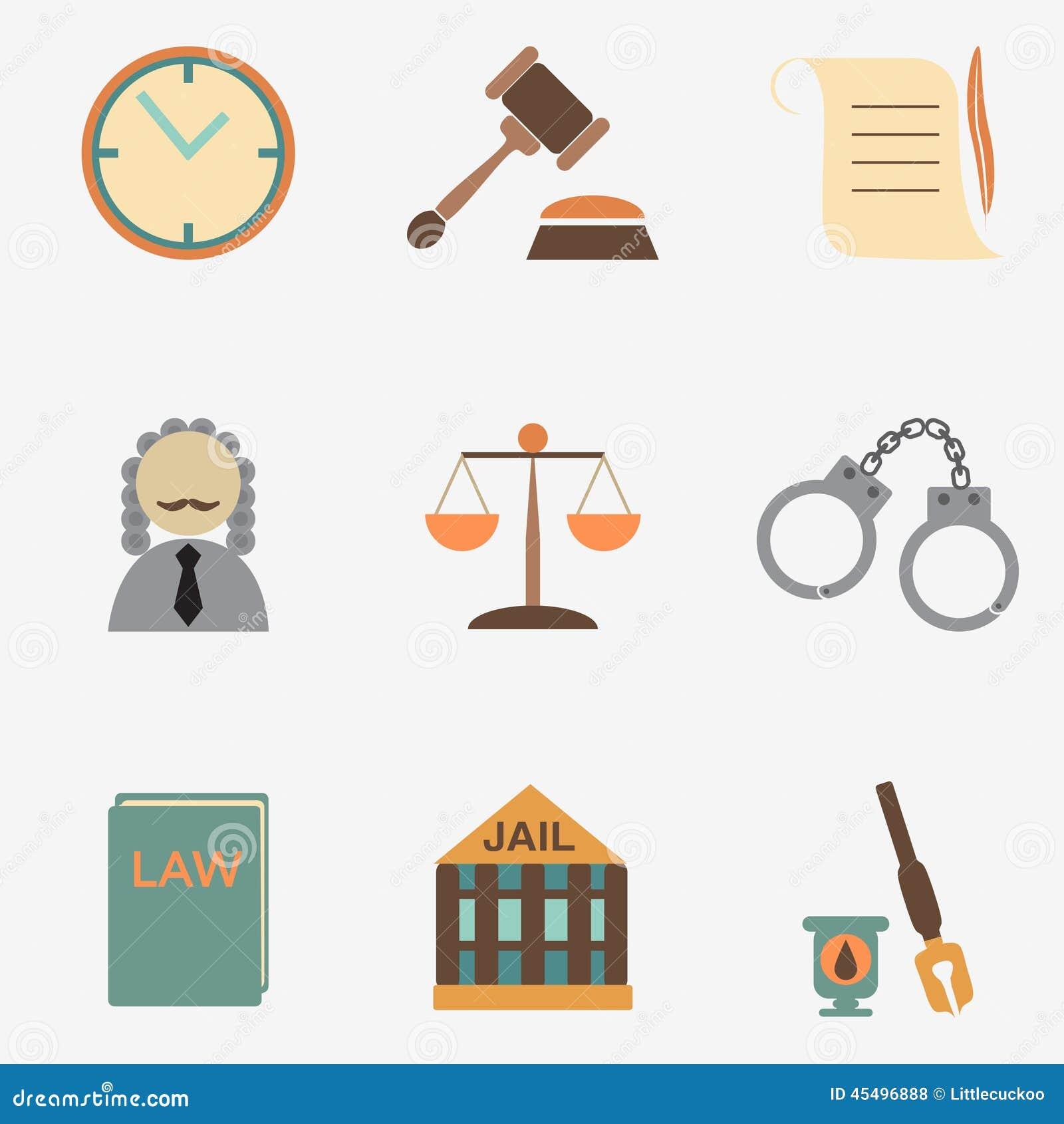 法律法官象集合,正义标志