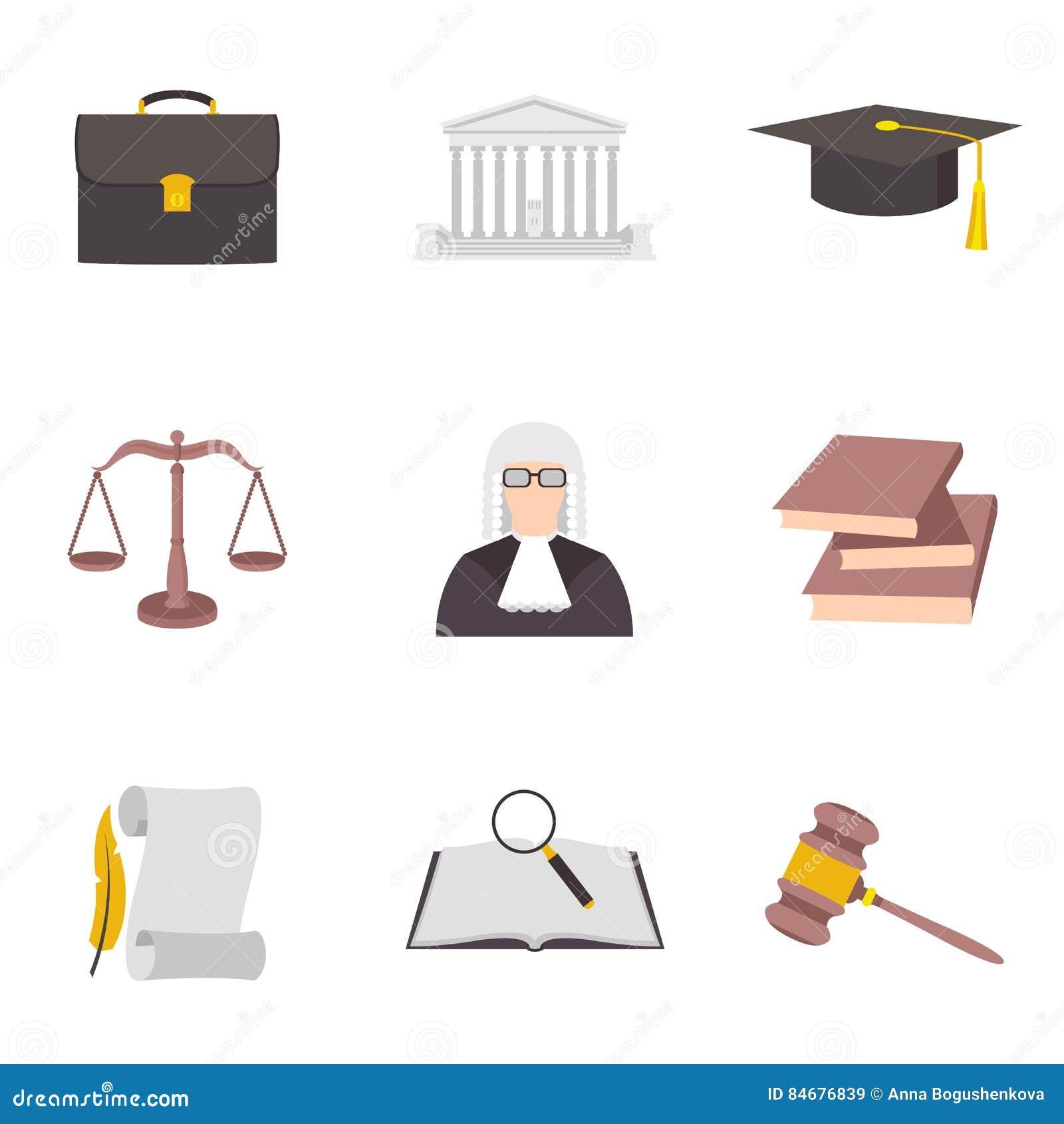 法律象颜色标志的传染媒介例证
