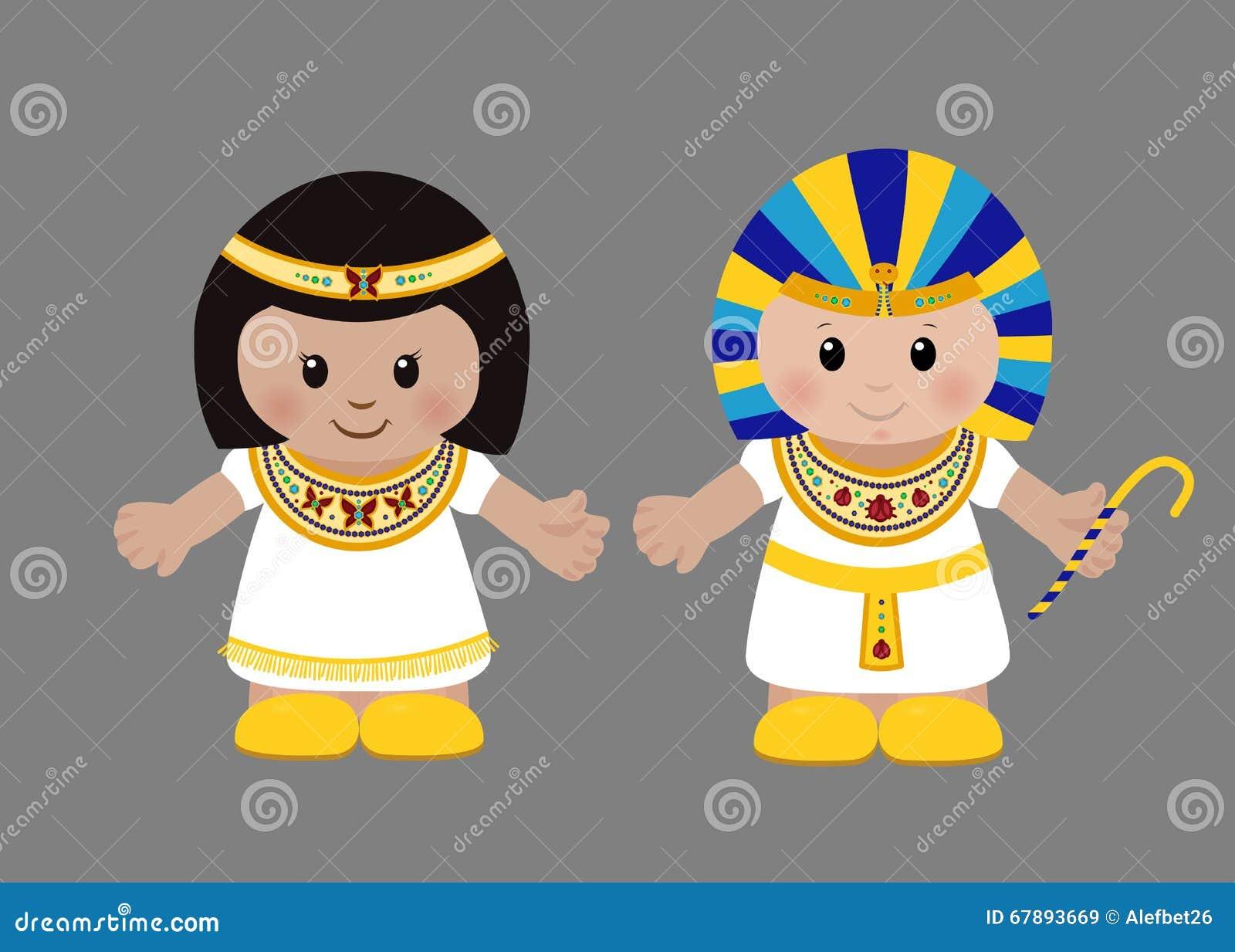 法老王和帕特拉古老埃及衣物的