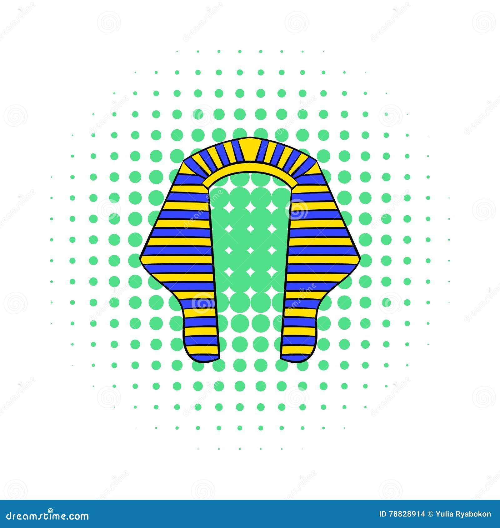 法老王象,漫画样式头饰