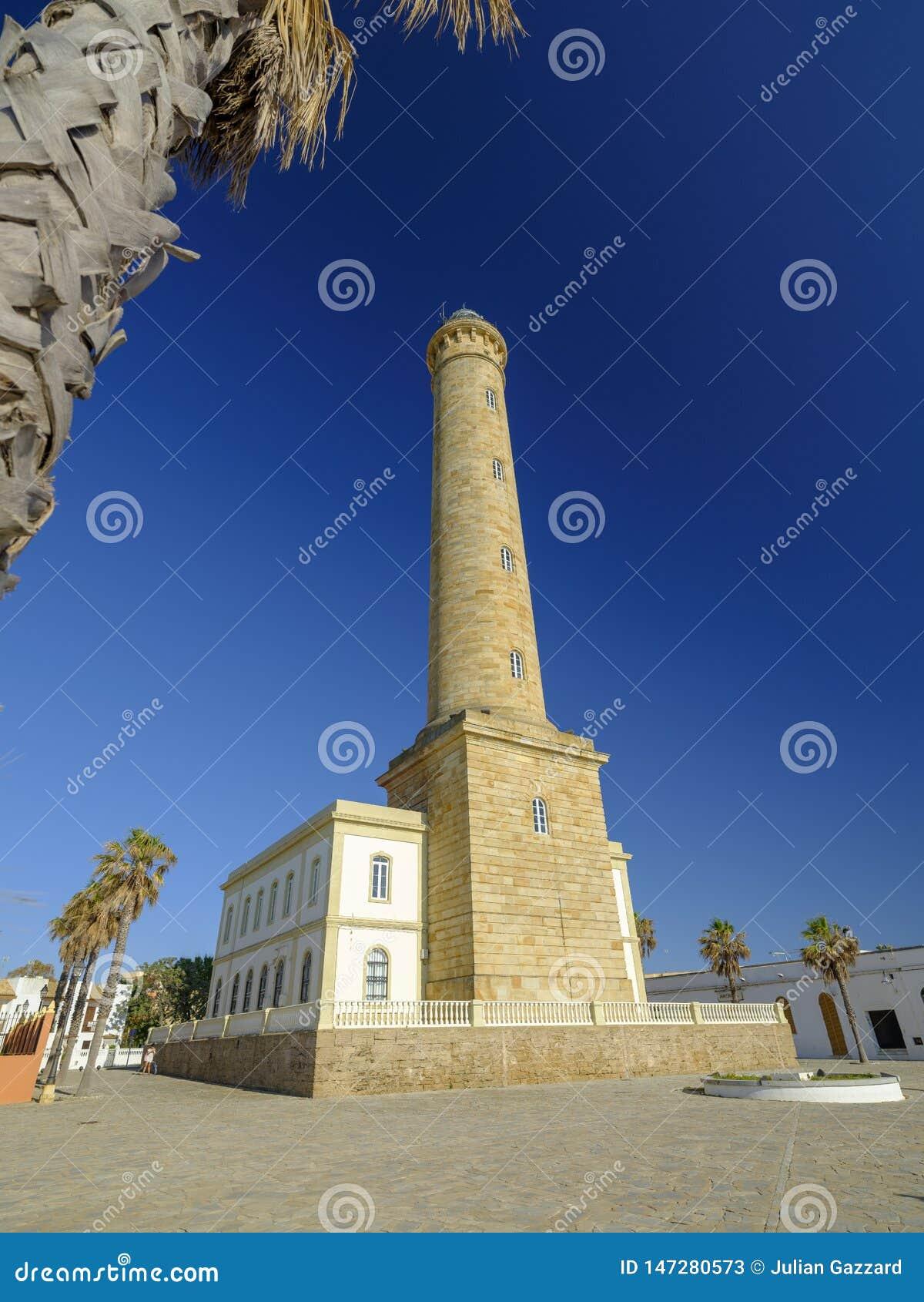 法鲁de奇皮奥纳,lightouse在奇皮奥纳,卡迪士,安达卢西亚,西班牙