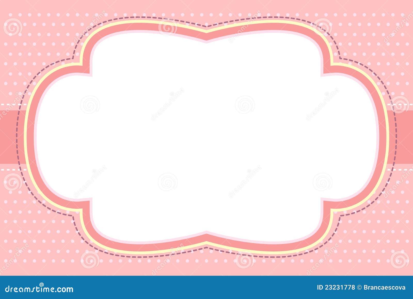 泡影框架华丽粉红色