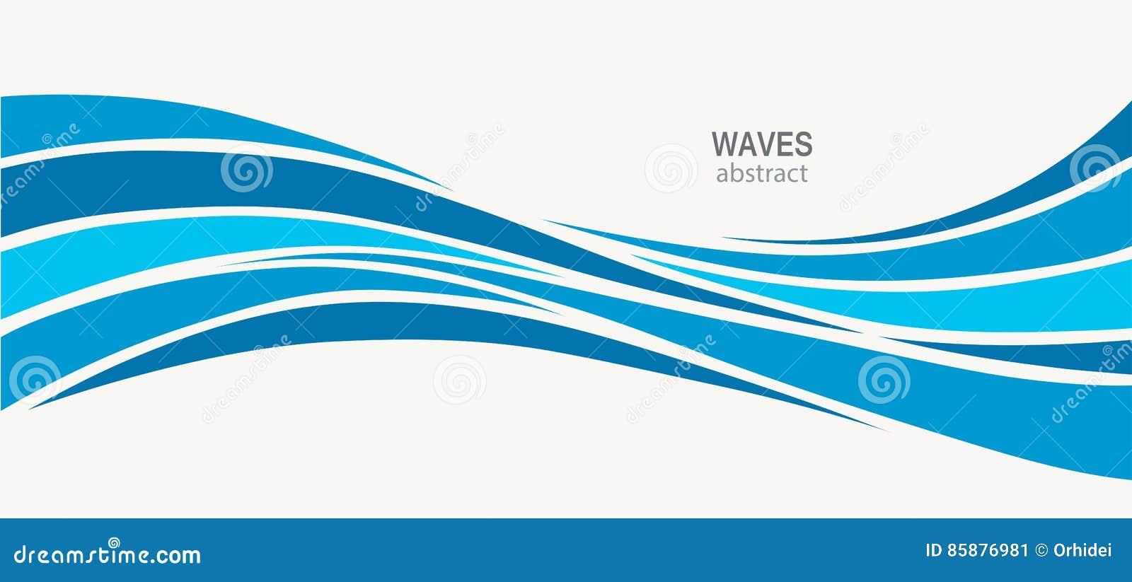 水波商标摘要设计