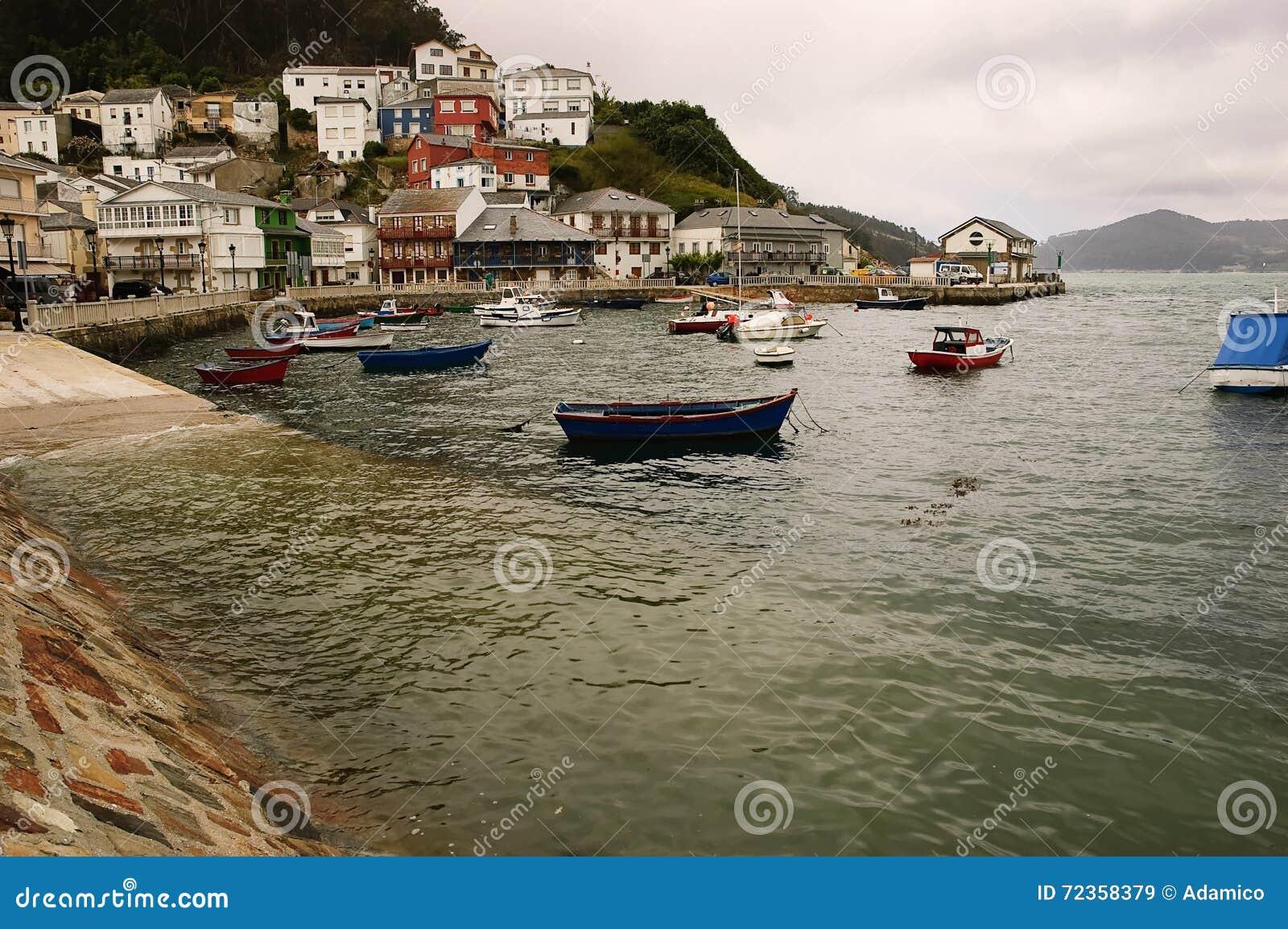 波尔图做Barqueiro :有港口的小村庄在加利西亚