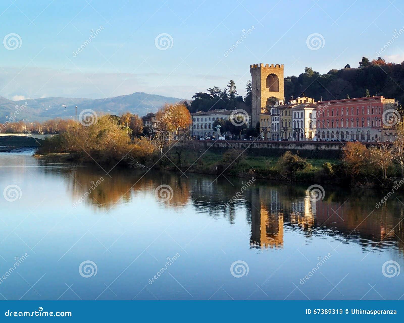 波尔塔圣Niccolo,圣尼古拉斯门,佛罗伦萨,亚诺河,意大利