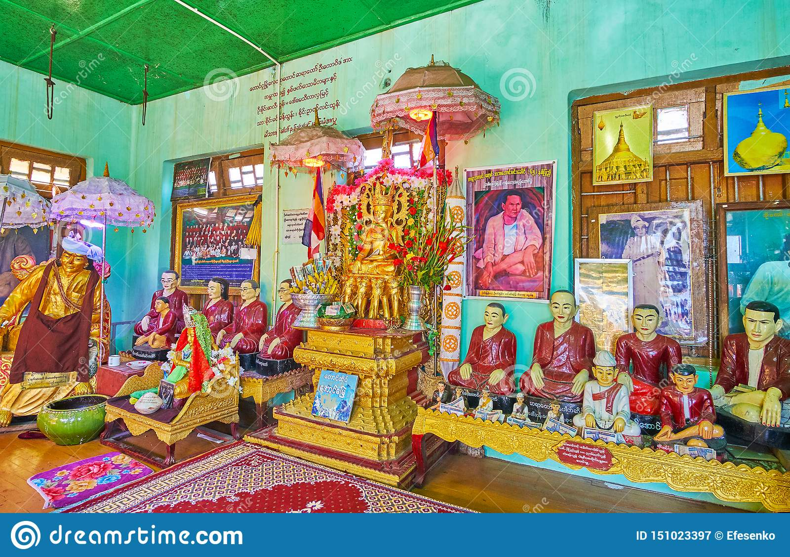 波帕岛塔翁Kalat修道院,缅甸nat寺庙