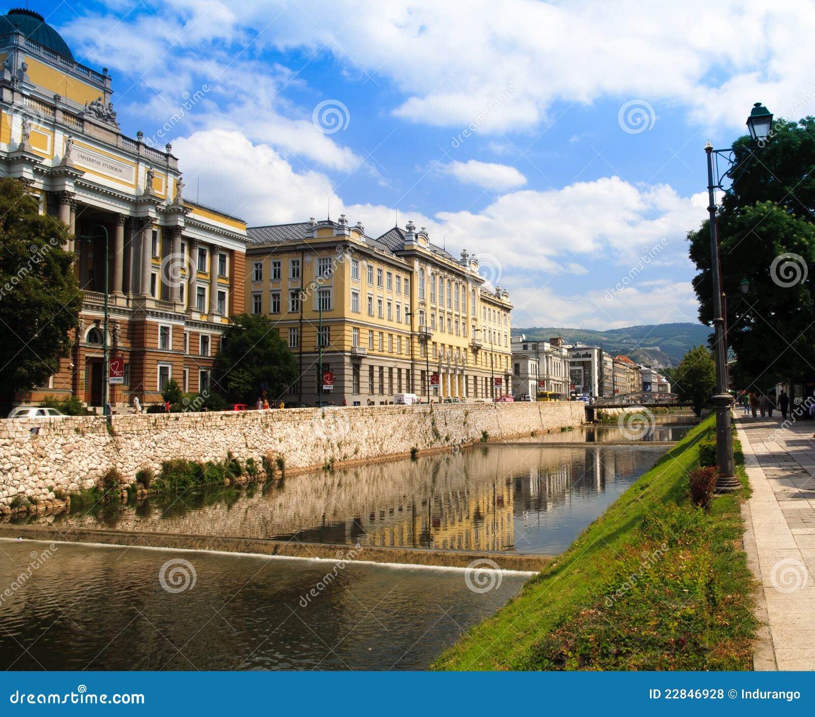 波斯尼亚miljacka河