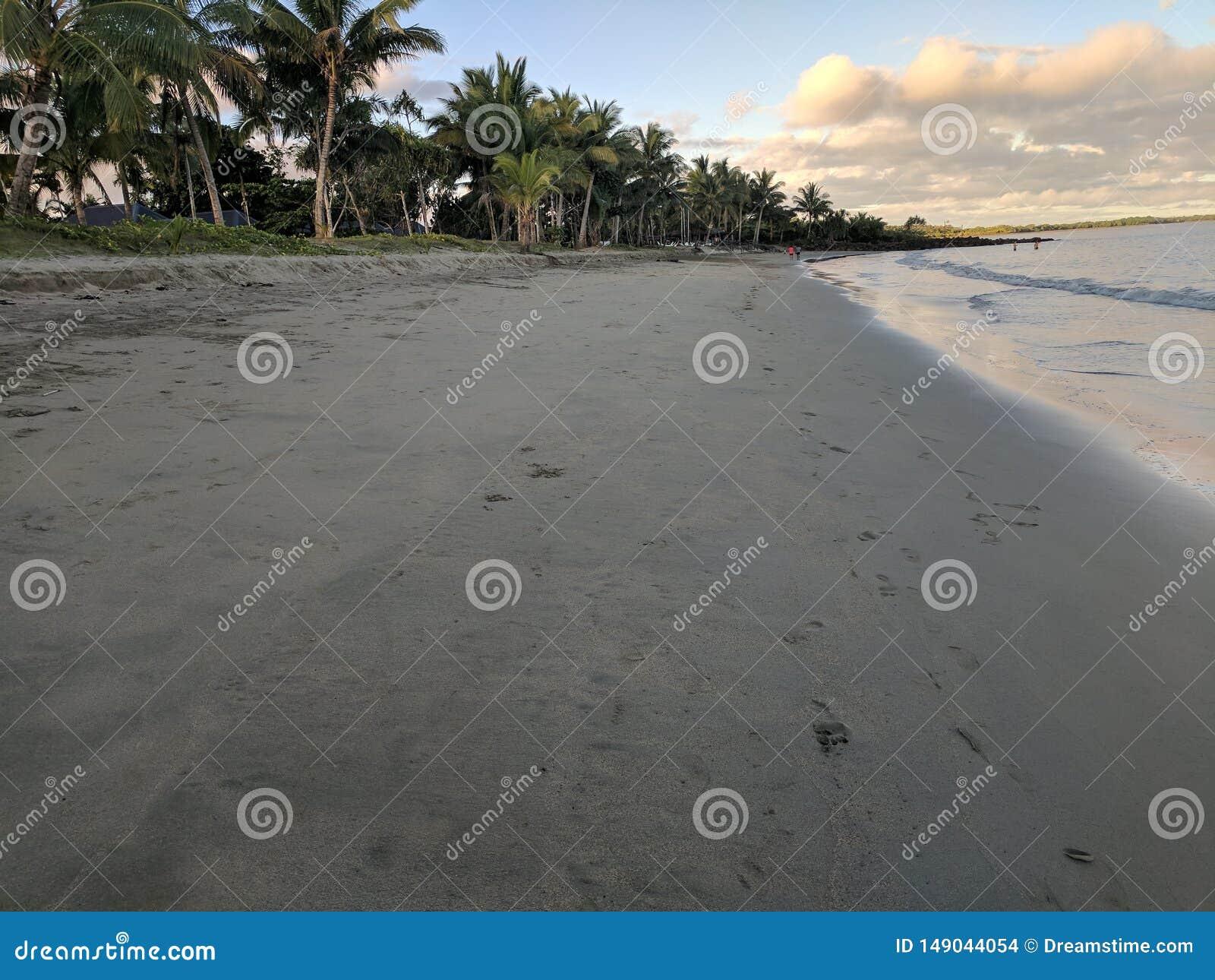 波浪和海滩,海湾,和平的港口,Viti海岛,斐济岛