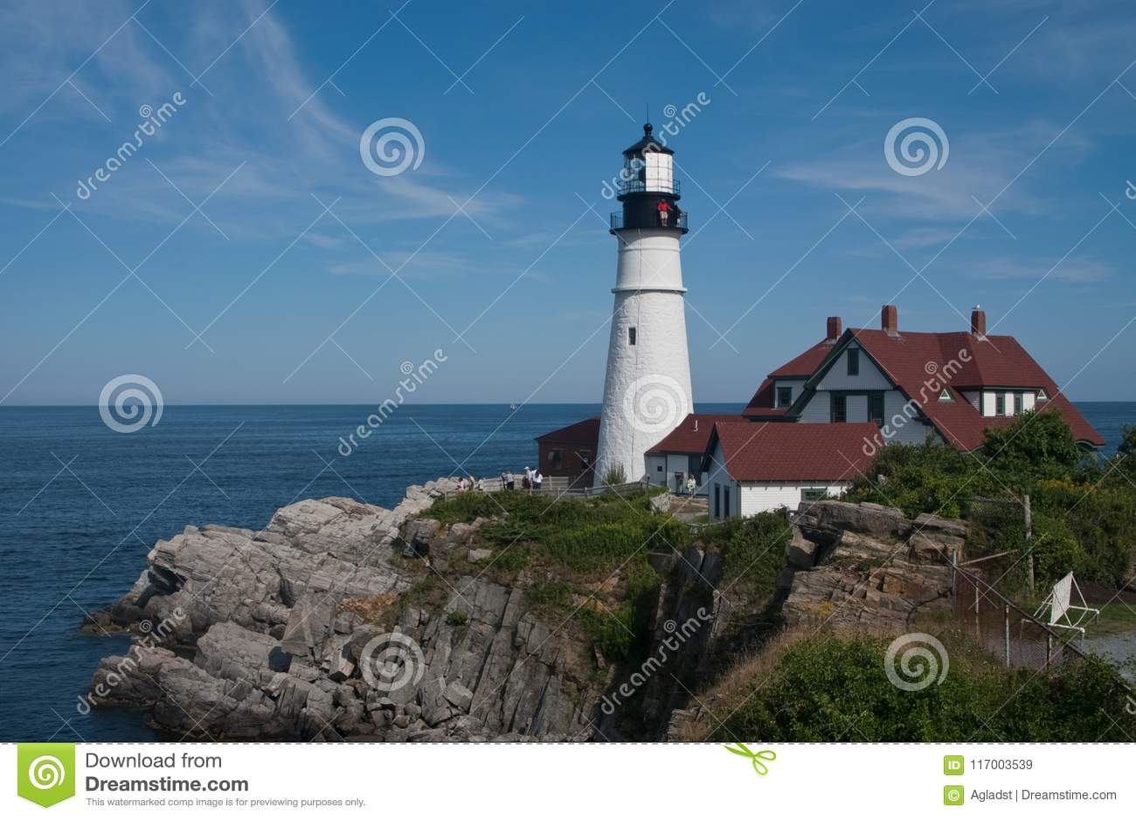 波特兰朝向灯塔, casco海湾,我