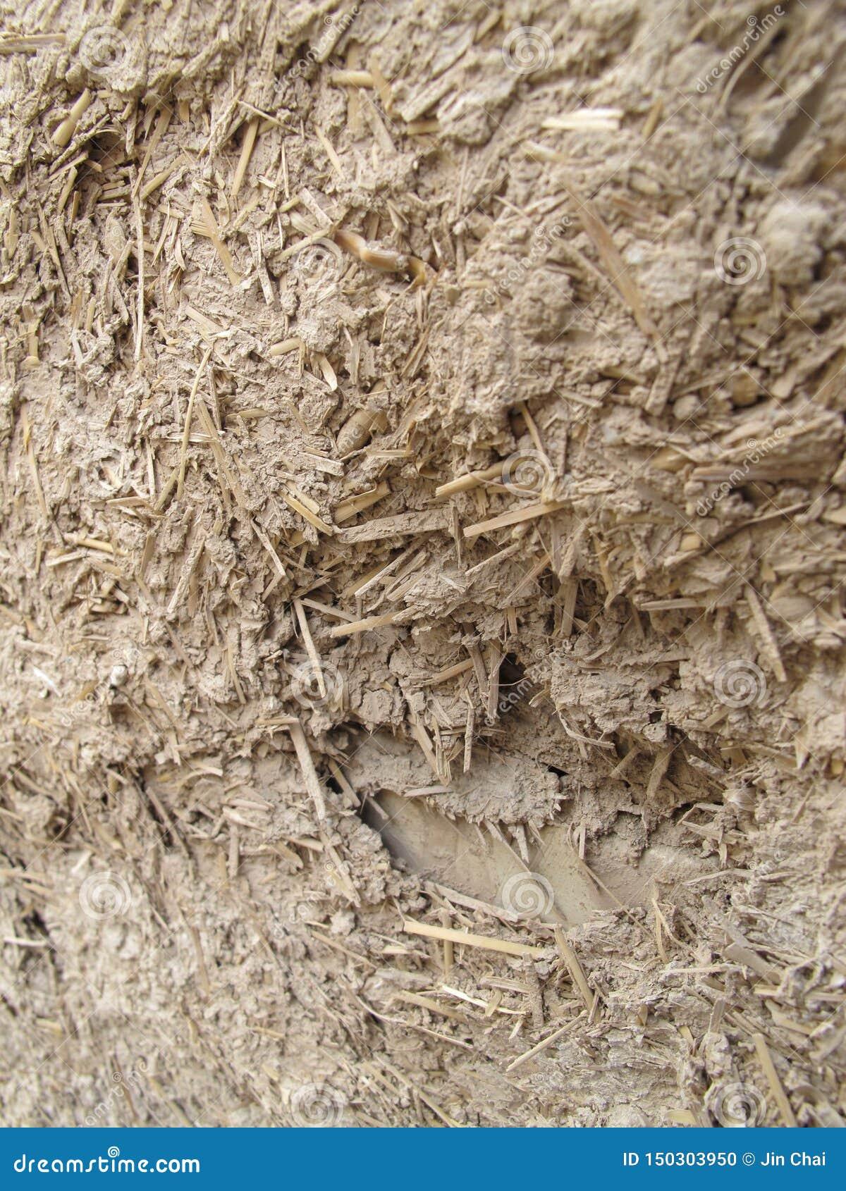 泥和木头纹理混合物