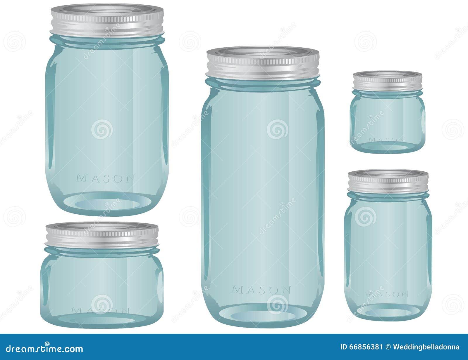 泥工玻璃瓶子以各种各样的大小