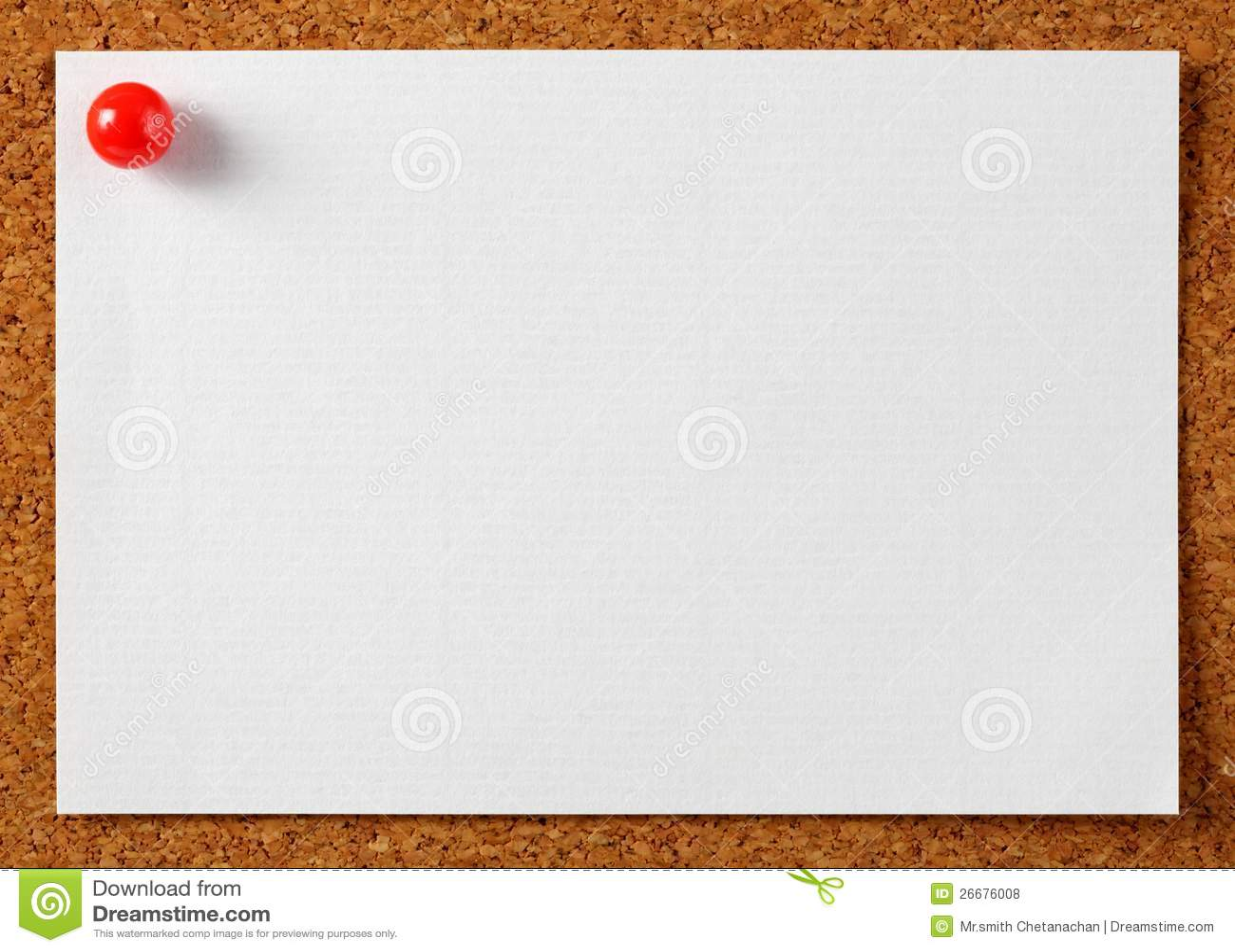 注意与红色针的通知单纸张在黄柏董事会.