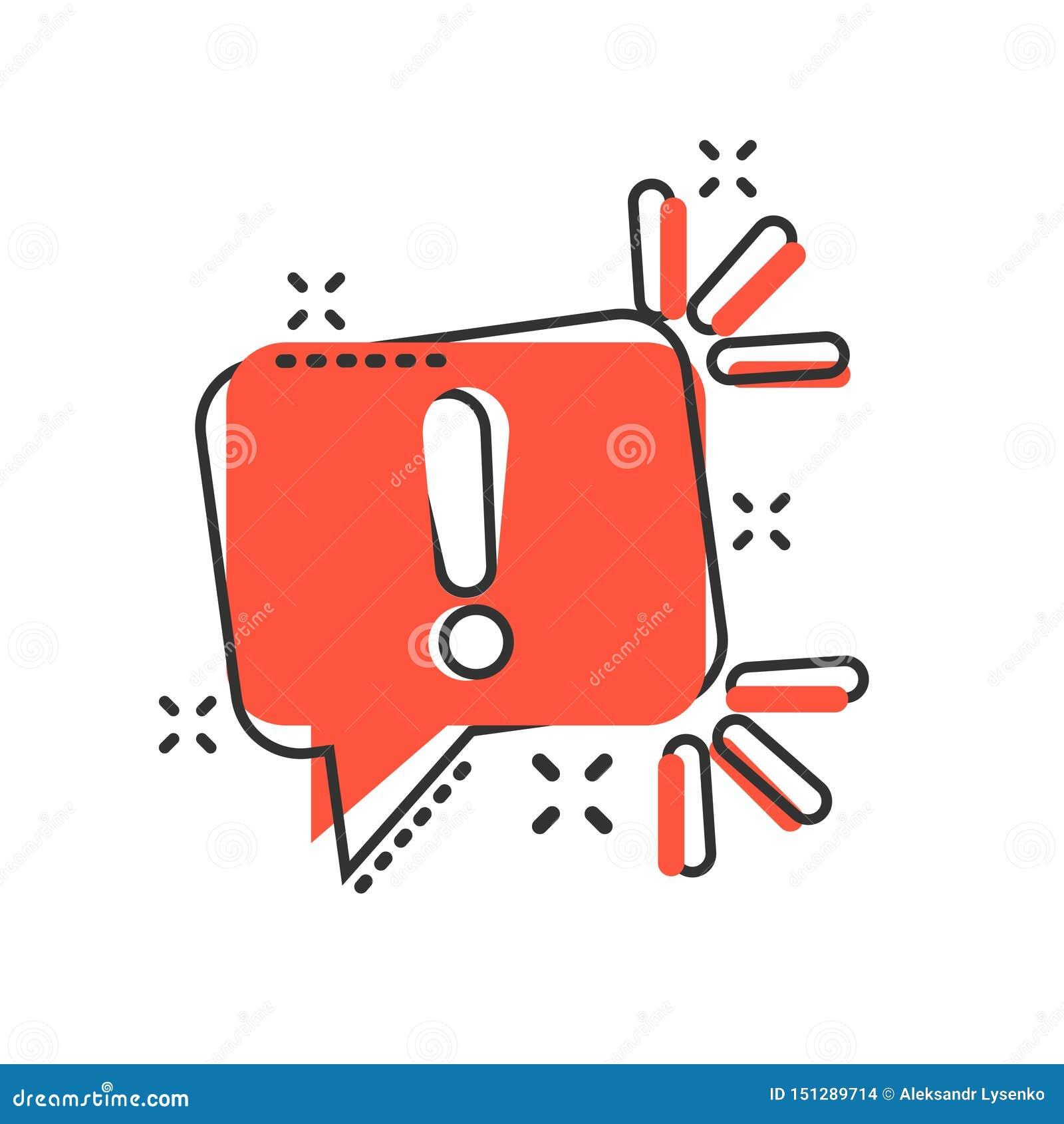 注意在可笑的样式的标志象 在白色被隔绝的背景的警告的横幅传染媒介动画片例证 信息企业