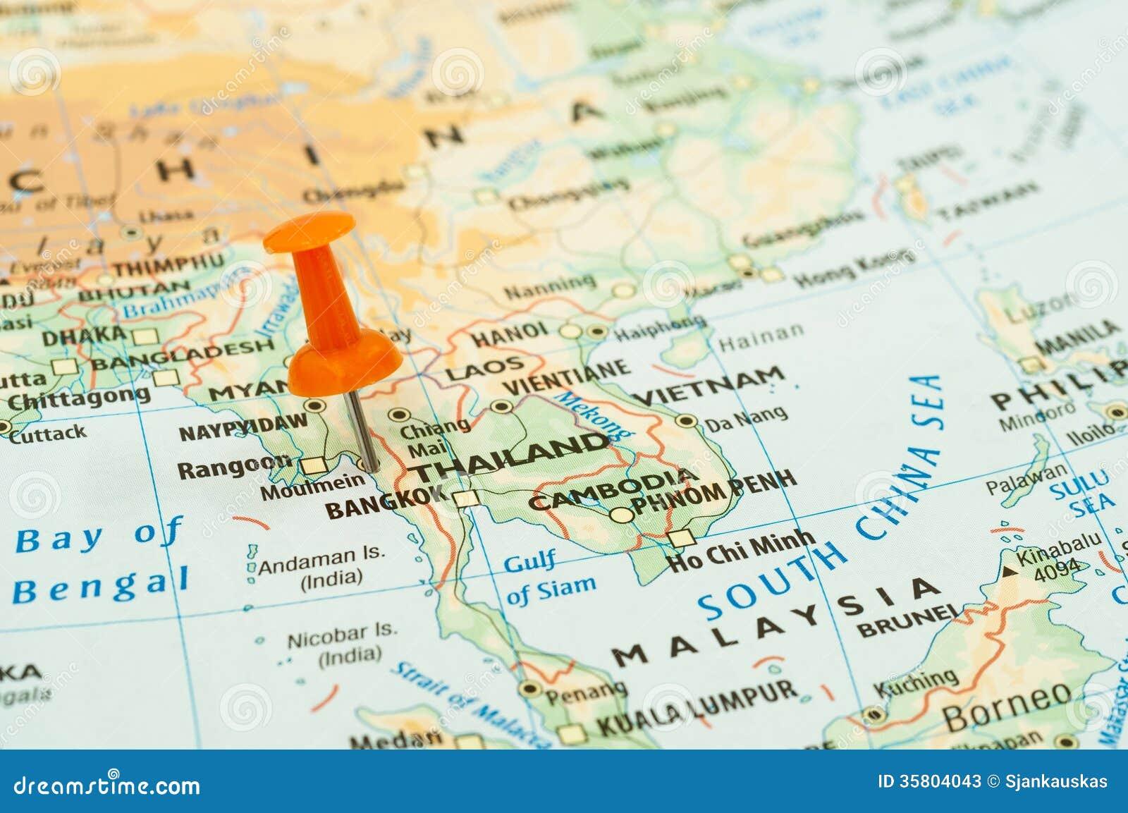 泰国地图别针