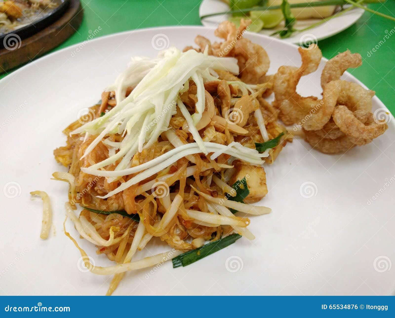 泰国油煎的面条告诉了Pad Thai