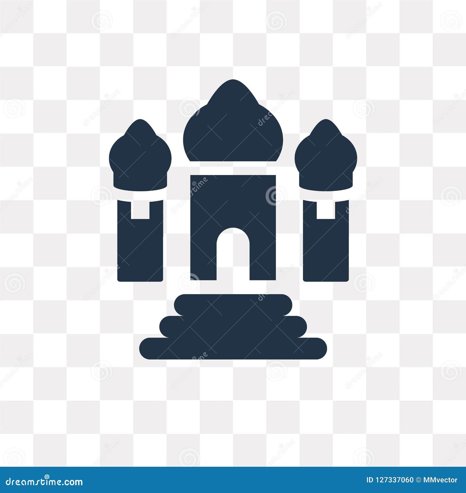 泰姬陵在透明背景隔绝的传染媒介象, Taj ma