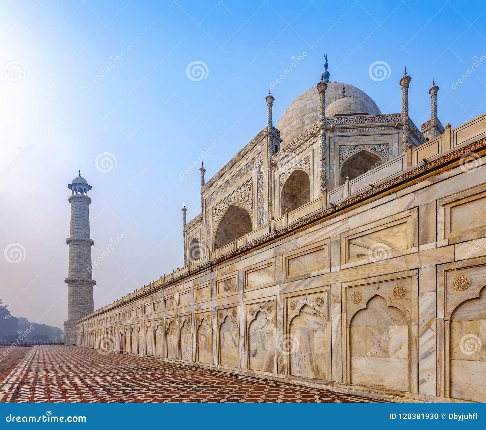 泰姬陵,印度-盛大宫殿的建筑片段和细节