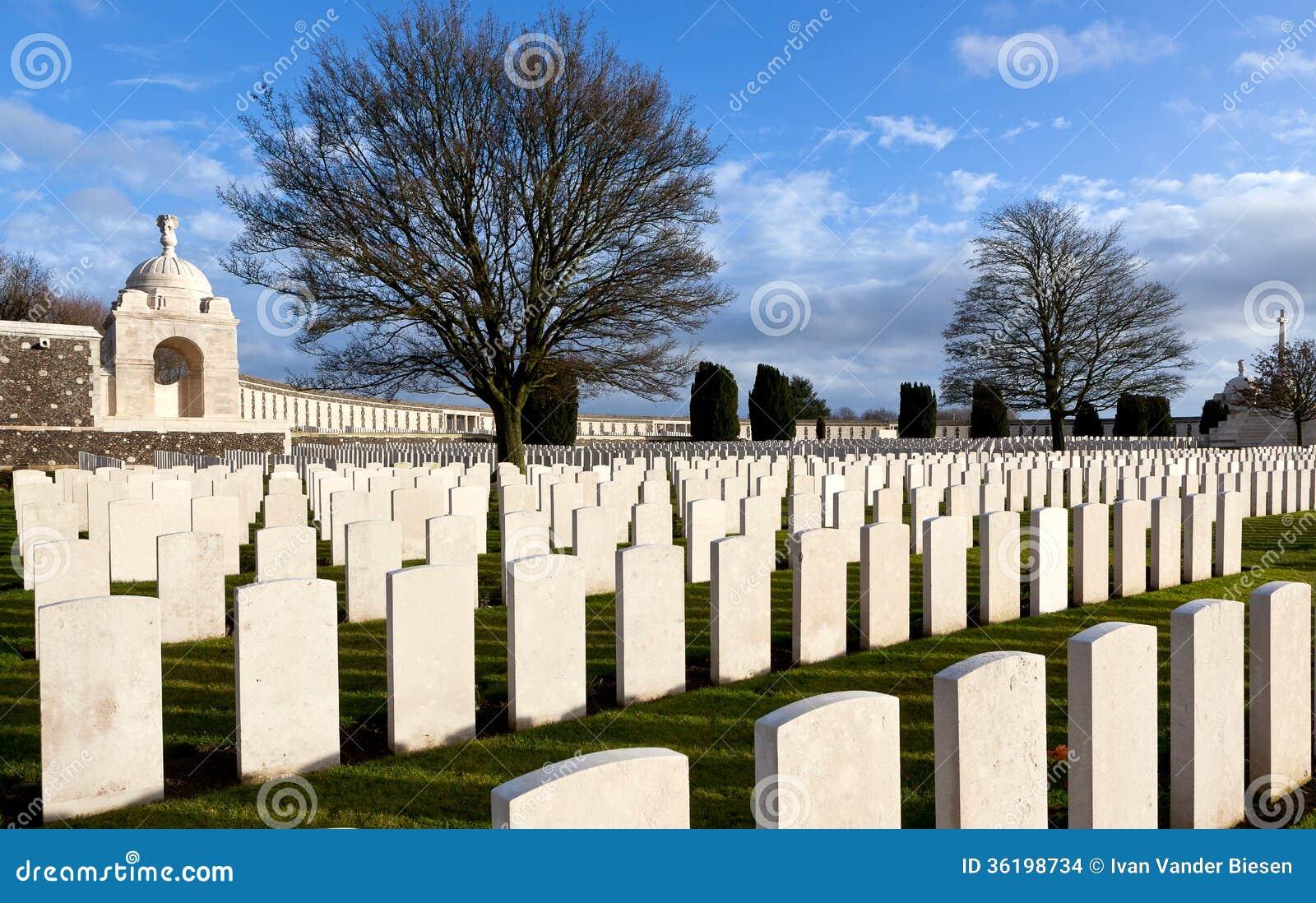泰恩河富兰德领域的轻便小床公墓,比利时
