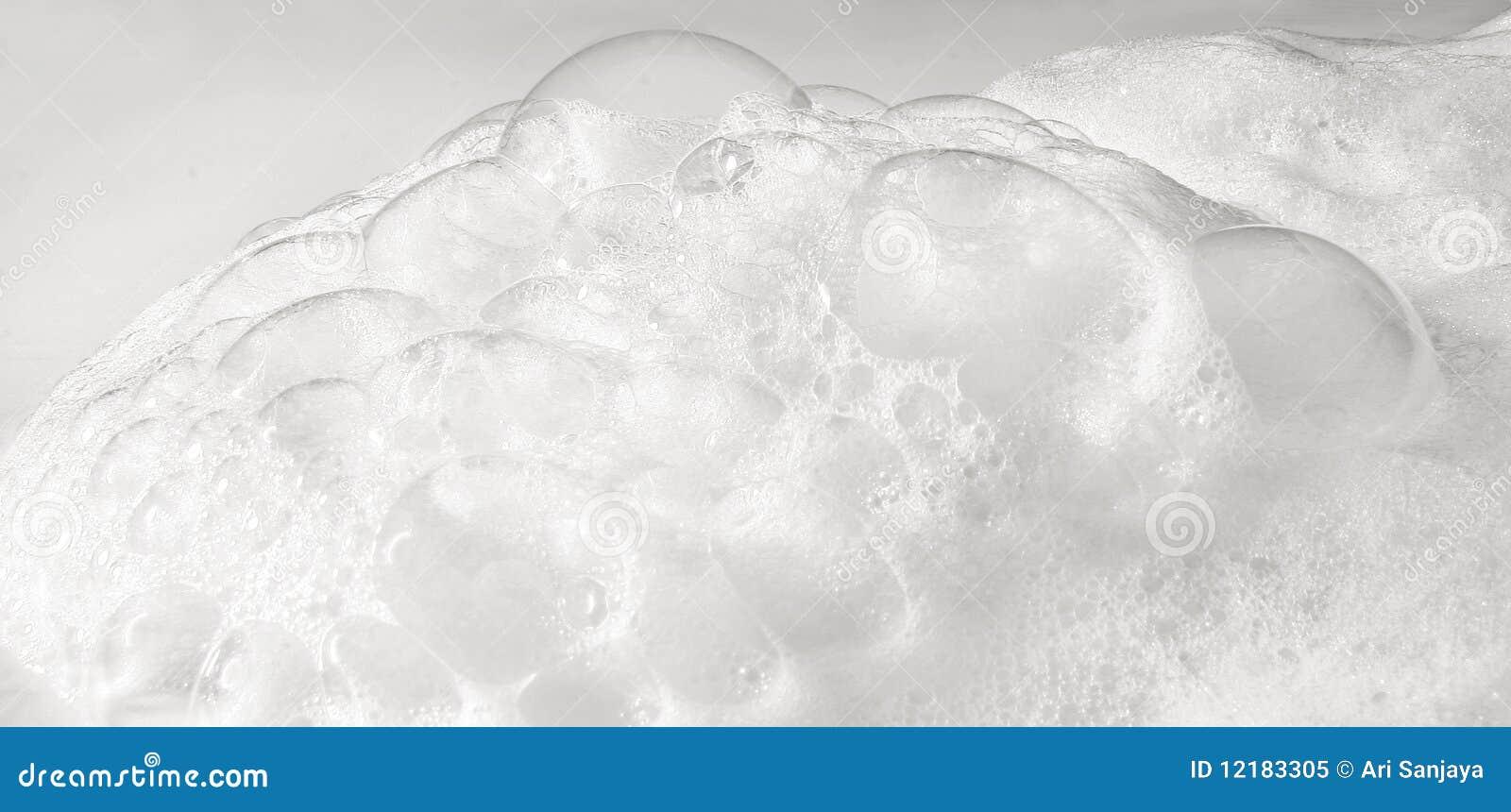 洗涤剂泡沫