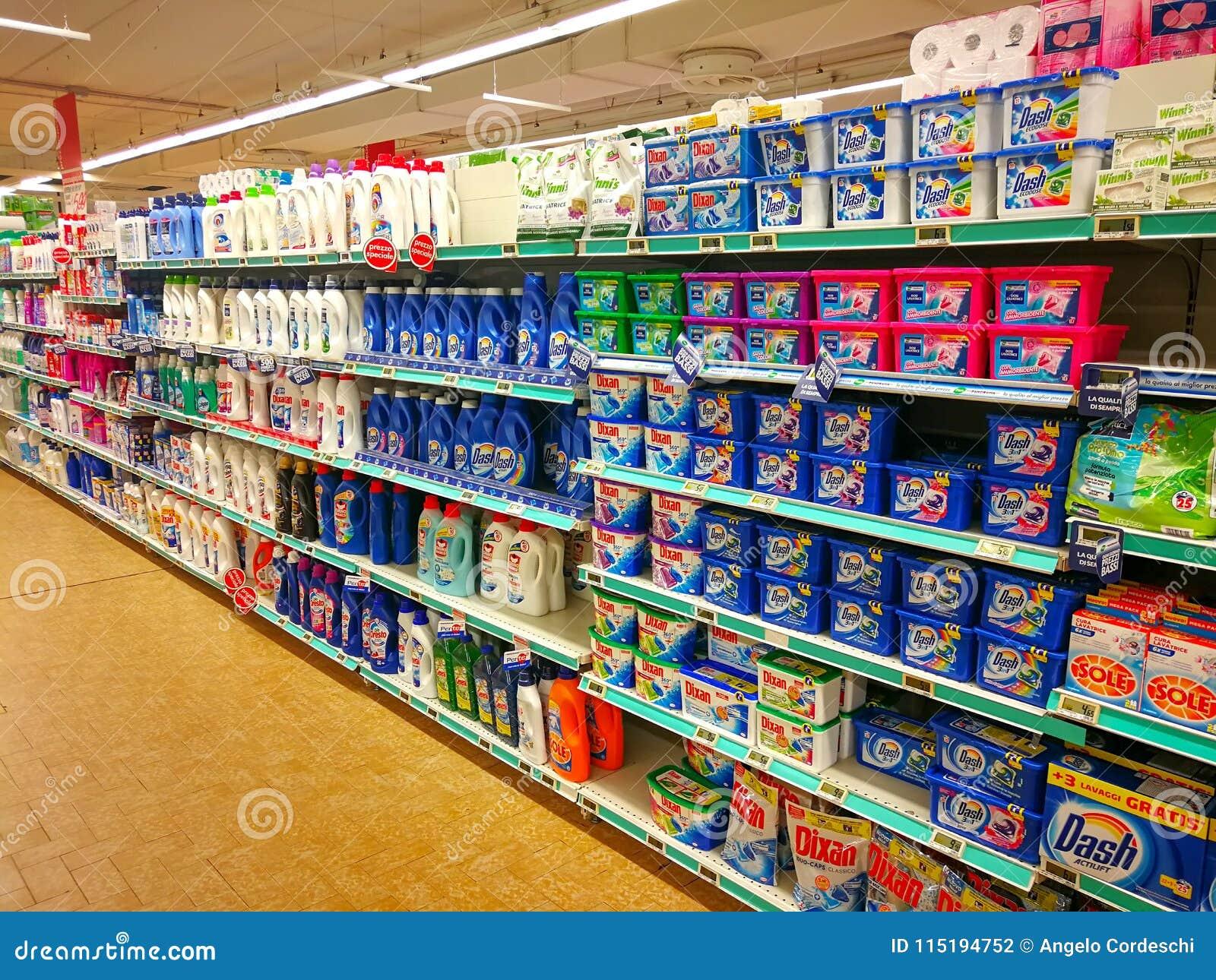 洗涤剂部门、肥皂和产品