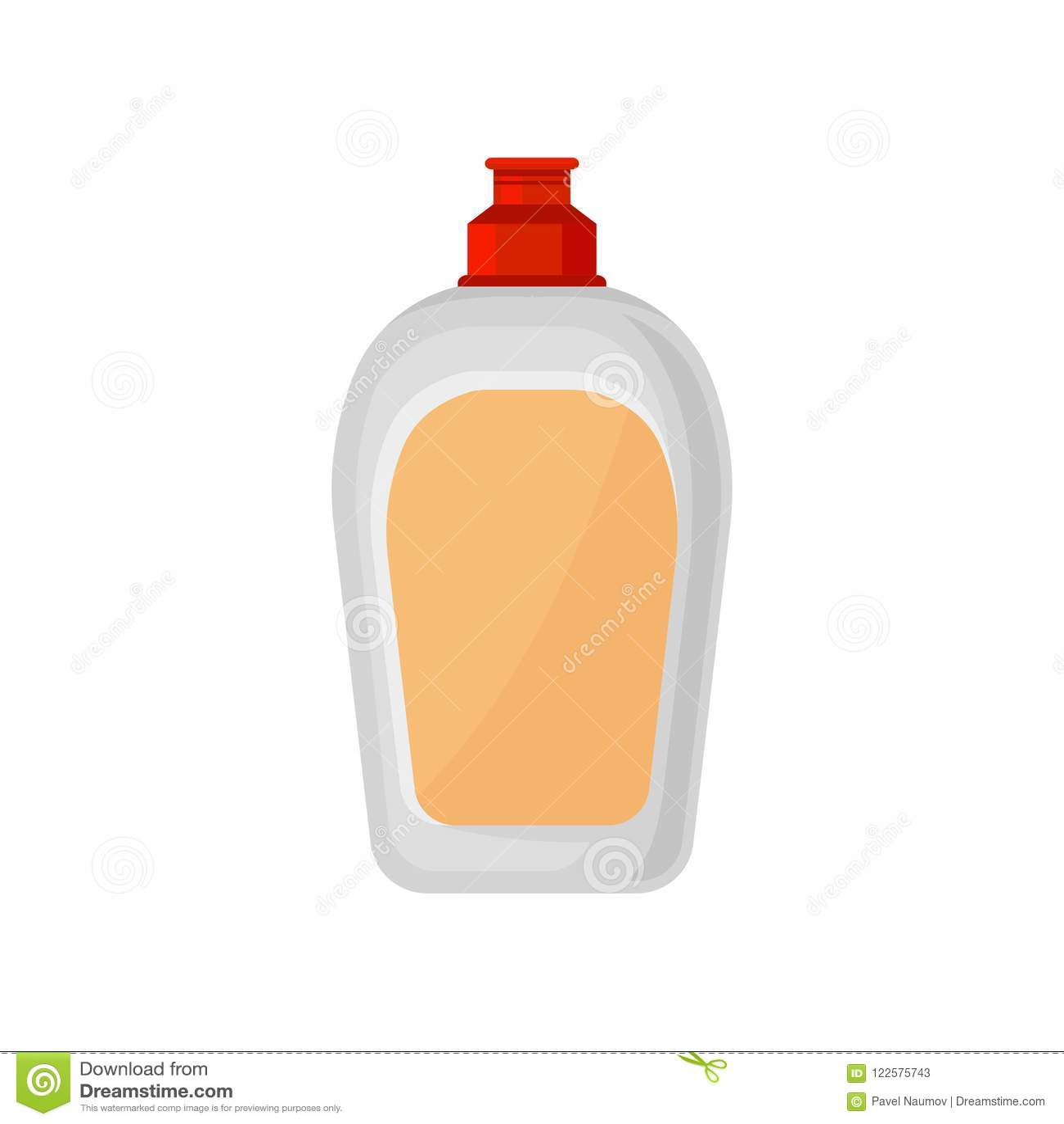 洗碗盘行为液体的,清洗化学制品容器在白色的家庭塑料瓶传染媒介例证