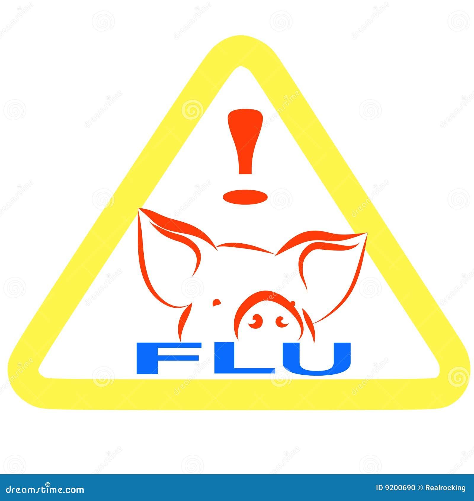 流感符号猪符号警告.图片